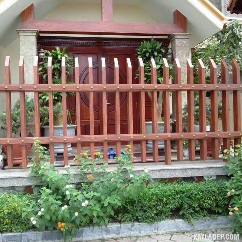 Mẫu hàng rào bê tông đẹp. Ảnh 19