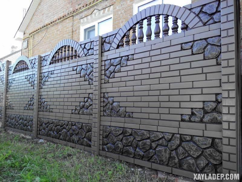 Mẫu hàng rào bê tông đẹp. Ảnh 06