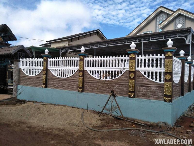 Mẫu hàng rào bê tông đẹp. Ảnh 09