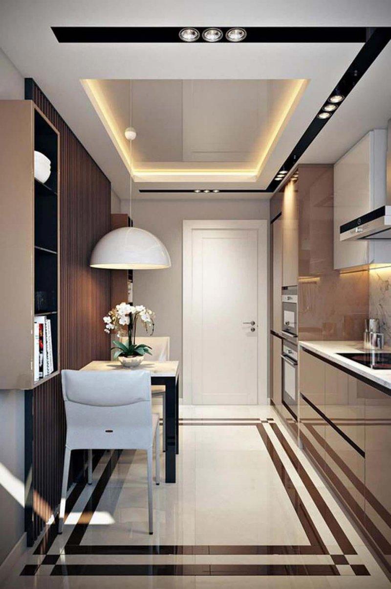 Mẫu trần thạch cao phòng bếp chung cư hiện đại