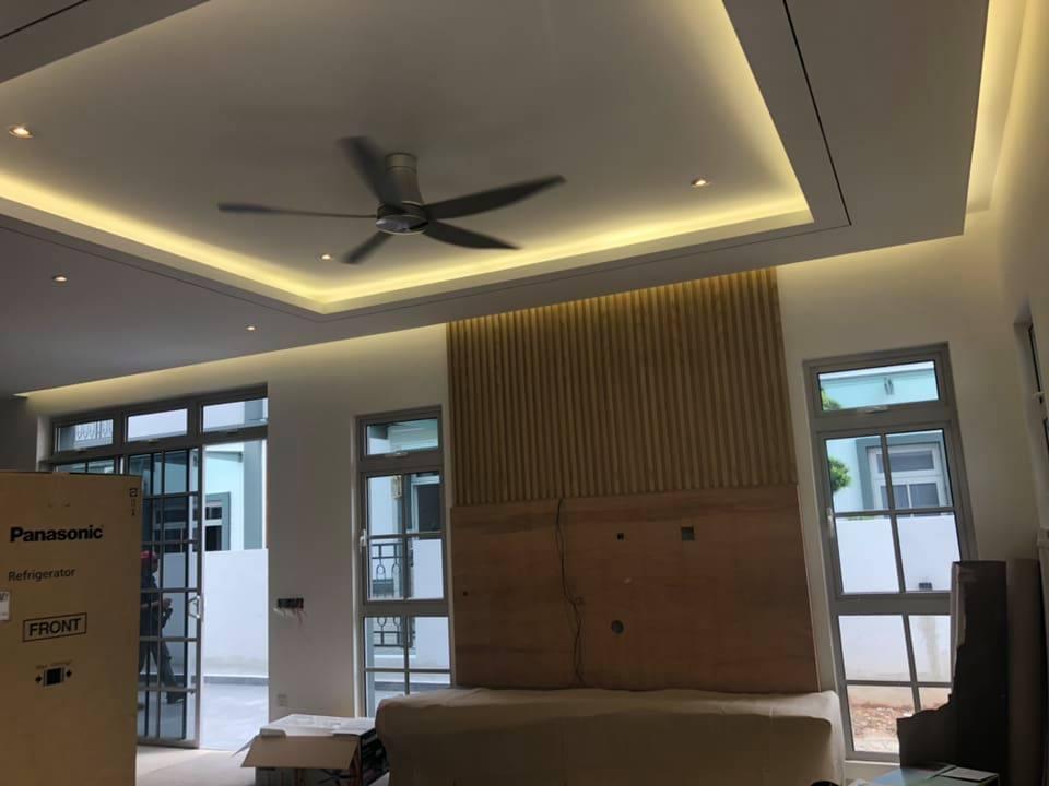 Mẫu trần thạch cao phòng khách đẹp 2018 - 2019. Ảnh 1