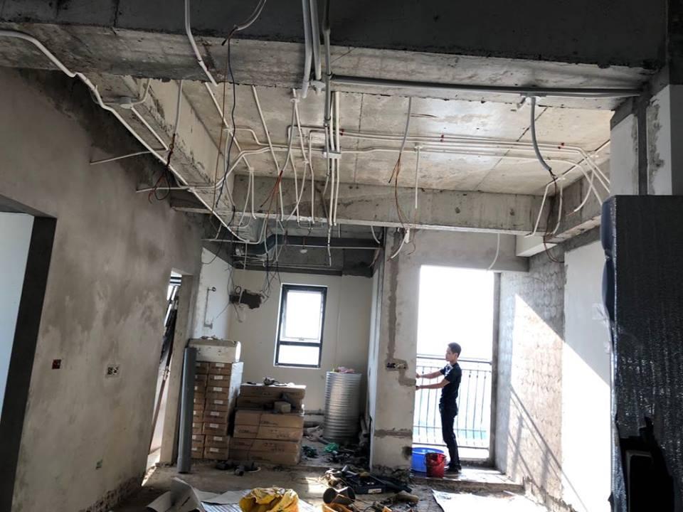 Thi công trần thạch cao tại An Bình City nhà anh Tuấn. Ảnh 11