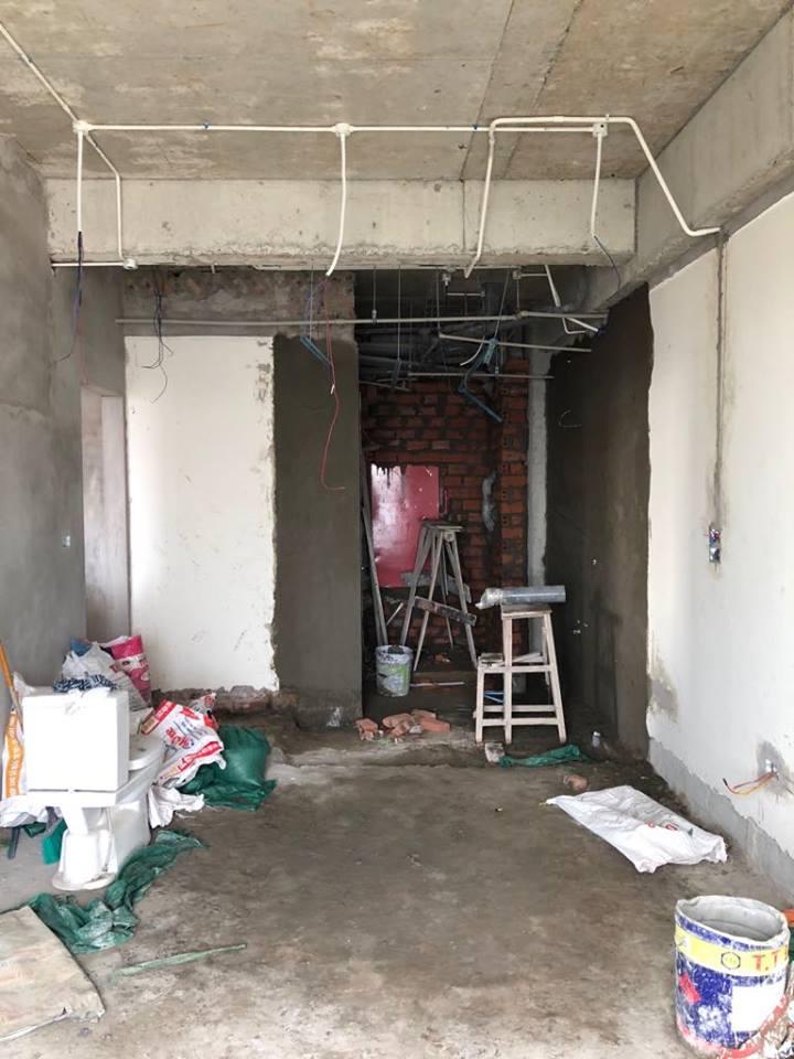 Thi công trần thạch cao tại An Bình City nhà anh Tuấn. Ảnh 7