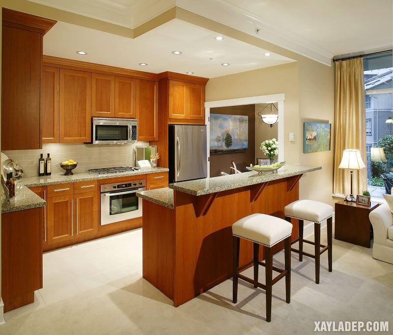 Các mẫu trần thạch cao phòng bếp đẹp nhất, mới nhất 2018. Ảnh 1