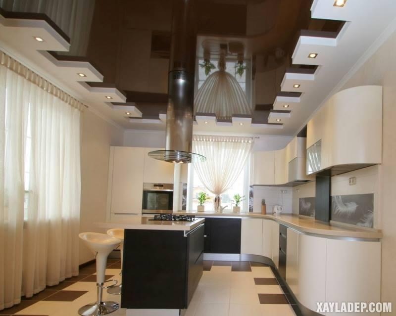 Các mẫu trần thạch cao phòng bếp đẹp nhất, mới nhất 2018. Ảnh 11