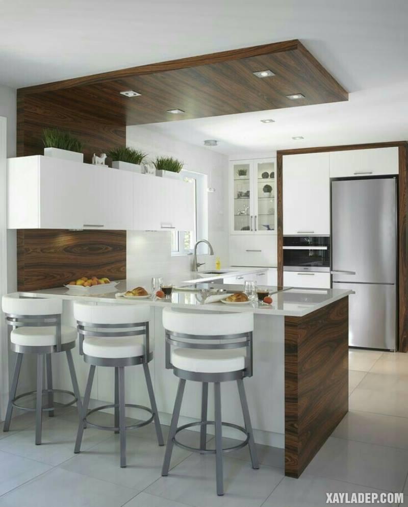 Các mẫu trần thạch cao phòng bếp đẹp nhất, mới nhất 2018. Ảnh 12