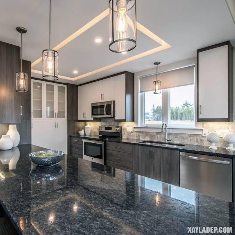 Các mẫu trần thạch cao phòng bếp đẹp nhất, mới nhất 2018. Ảnh 14