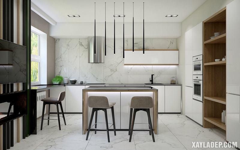Các mẫu trần thạch cao phòng bếp đẹp nhất, mới nhất 2018. Ảnh 15