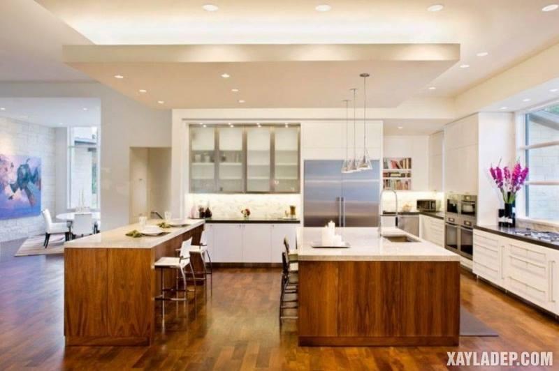 Các mẫu trần thạch cao phòng bếp đẹp nhất, mới nhất 2018. Ảnh 16