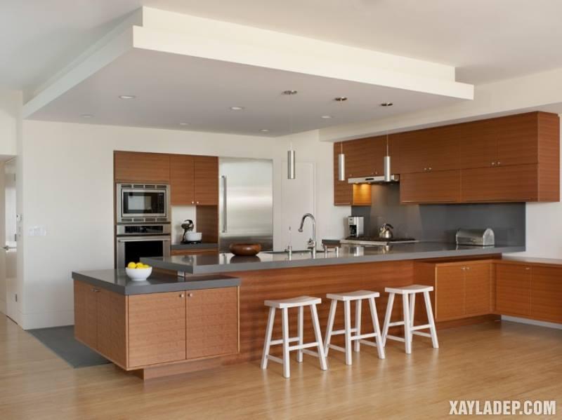 Các mẫu trần thạch cao phòng bếp đẹp nhất, mới nhất 2018. Ảnh 19