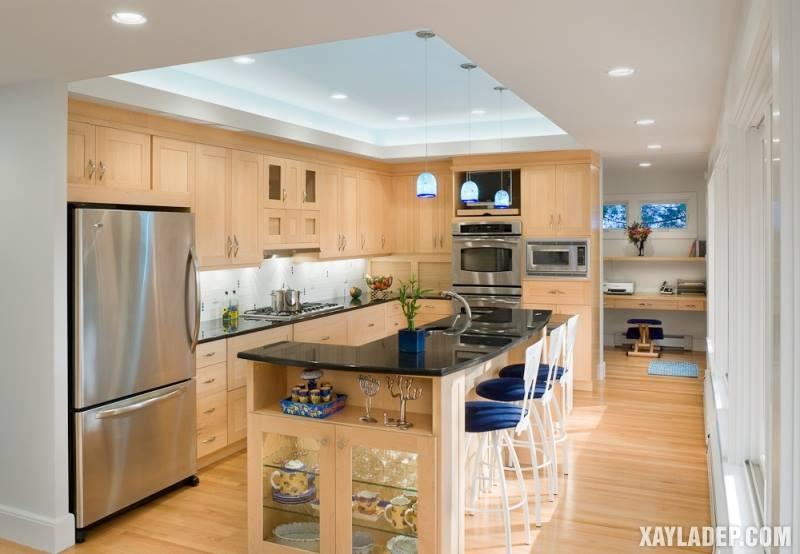 Các mẫu trần thạch cao phòng bếp đẹp nhất, mới nhất 2018. Ảnh 2