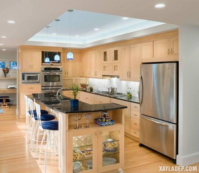 Các mẫu trần thạch cao phòng bếp đẹp nhất, mới nhất 2018. Ảnh 20