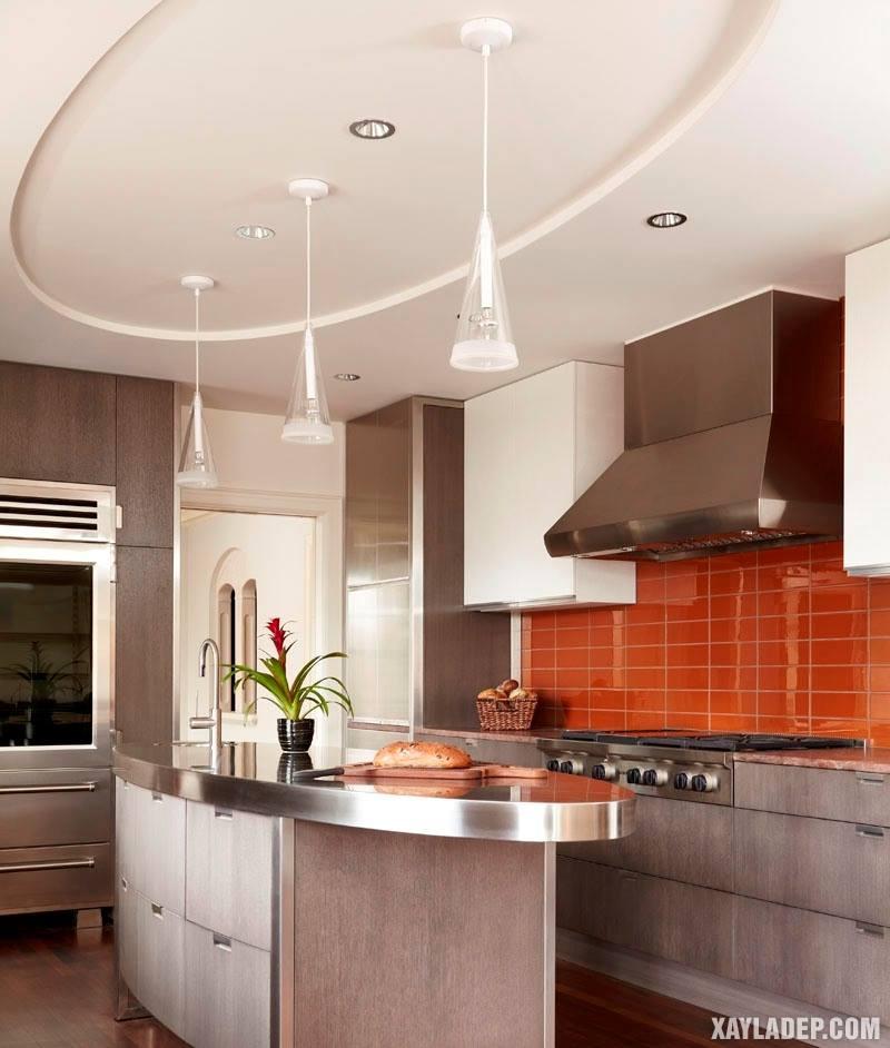 Các mẫu trần thạch cao phòng bếp đẹp nhất, mới nhất 2018. Ảnh 3