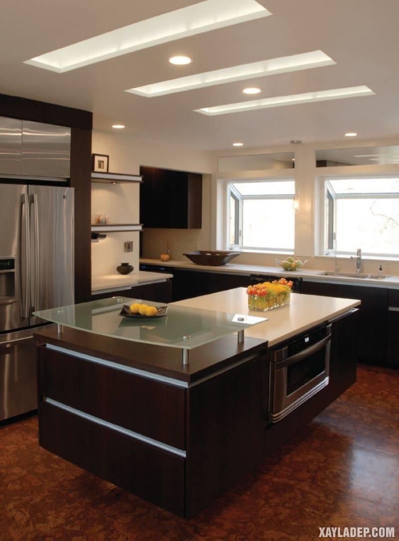 Các mẫu trần thạch cao phòng bếp đẹp nhất, mới nhất 2018. Ảnh 4