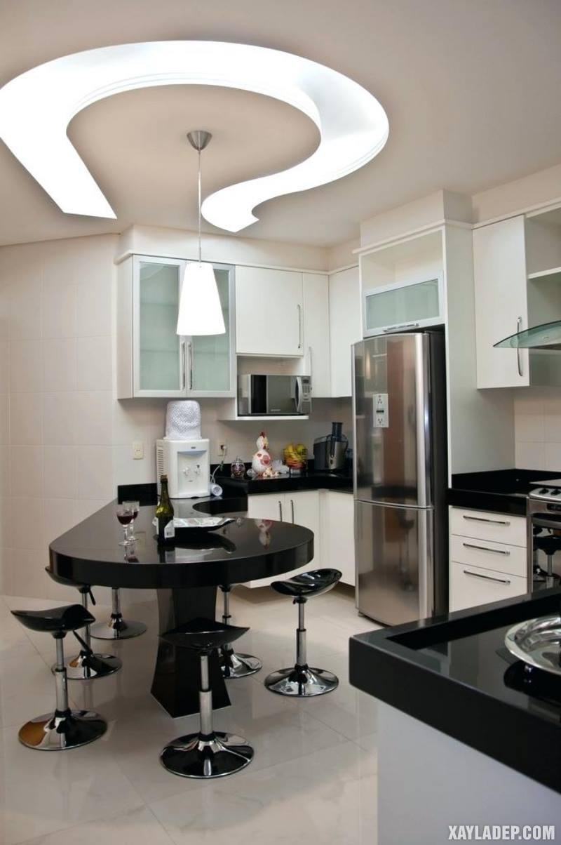 Các mẫu trần thạch cao phòng bếp đẹp nhất, mới nhất 2018. Ảnh 6