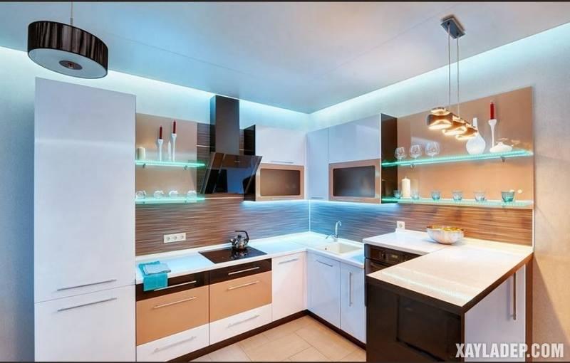 Các mẫu trần thạch cao phòng bếp đẹp nhất, mới nhất 2018. Ảnh 7