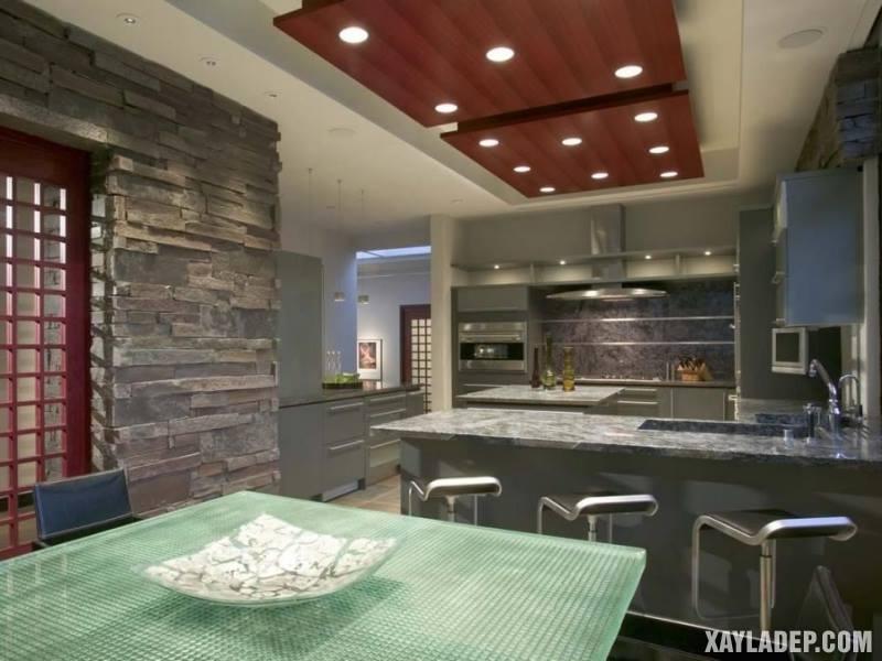 Các mẫu trần thạch cao phòng bếp đẹp nhất, mới nhất 2018. Ảnh 8