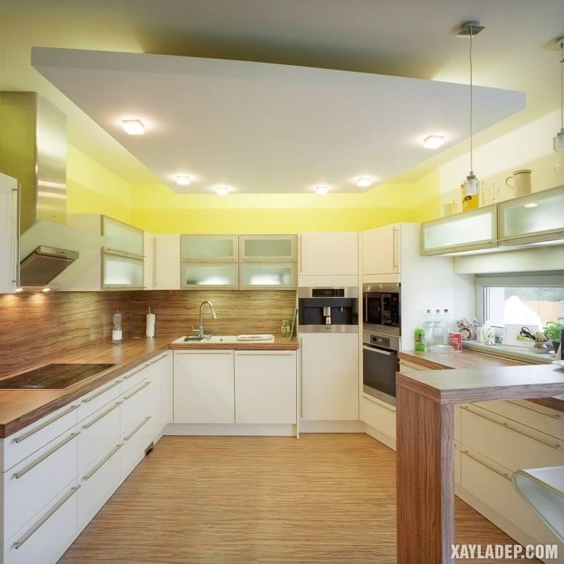Các mẫu trần thạch cao phòng bếp đẹp nhất, mới nhất 2018. Ảnh 9