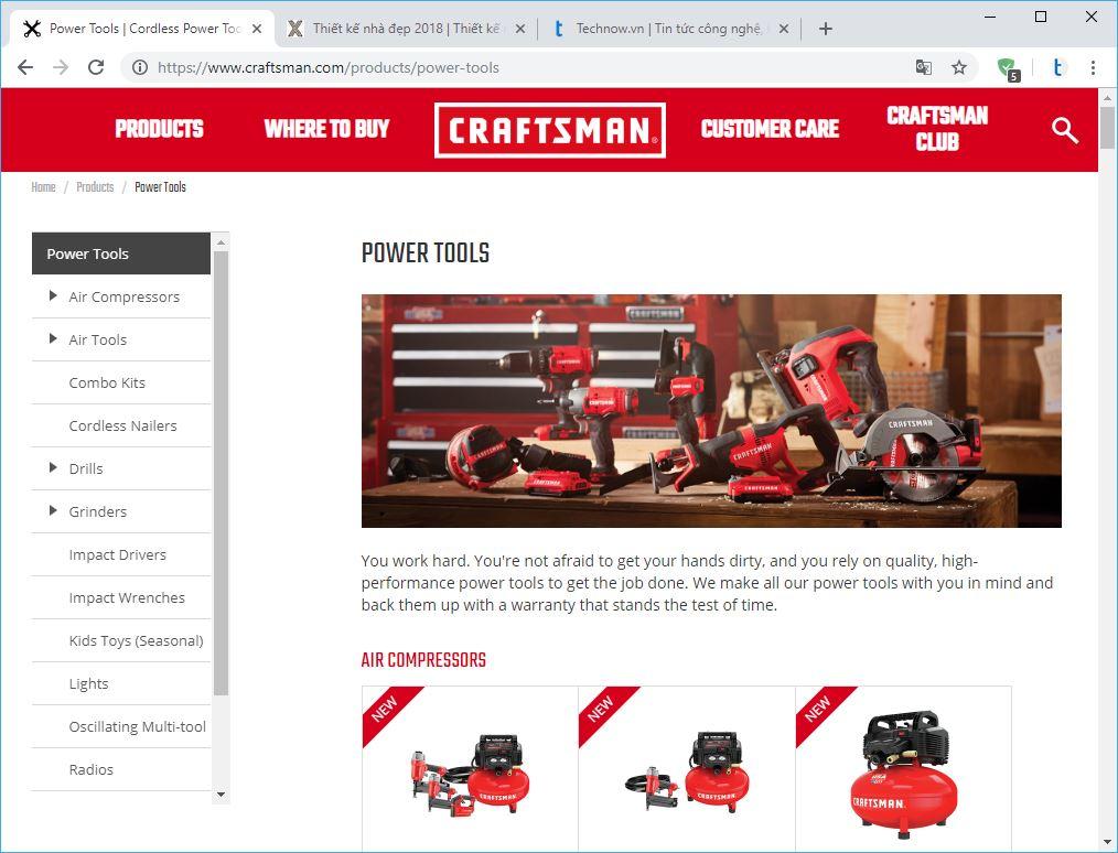 10 thương hiệu hàng đầu về công cụ điện và máy cầm tay. Craftsman