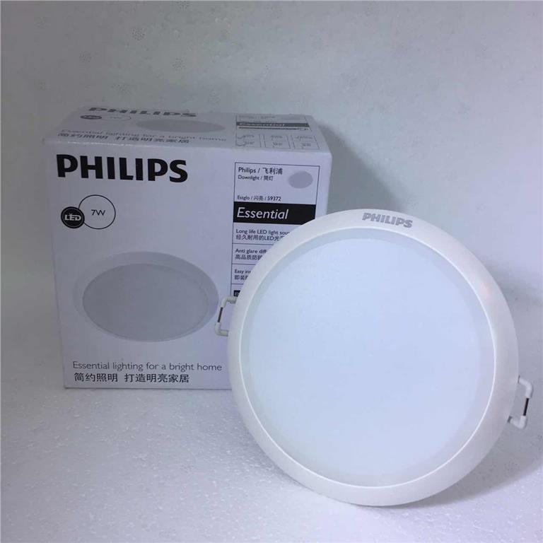 Một mẫu đèn led âm trần Philips công suất 7W