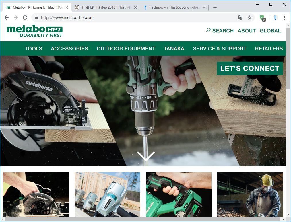 10 thương hiệu hàng đầu về công cụ điện và máy cầm tay. hitachi