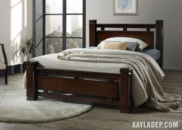 Mẫu giường gỗ đẹp 2020. Ảnh 1