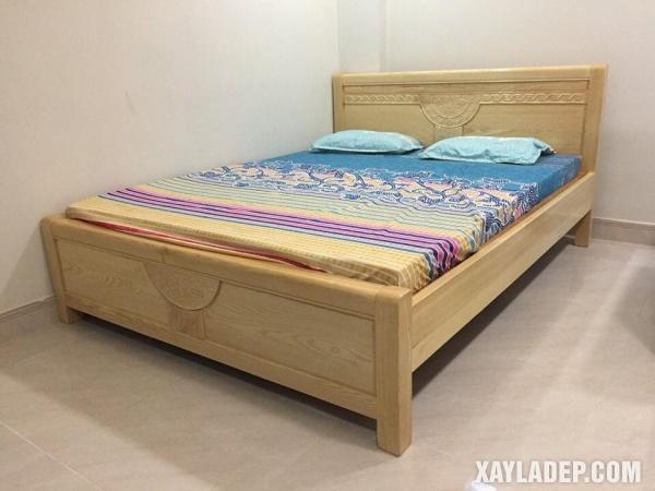 Mẫu giường gỗ đẹp 2020. Ảnh 5
