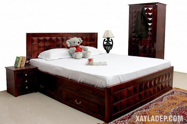 Mẫu giường gỗ đẹp 2020. Ảnh 7
