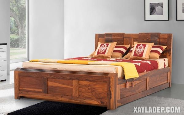 Mẫu giường gỗ đẹp 2020. Ảnh 8
