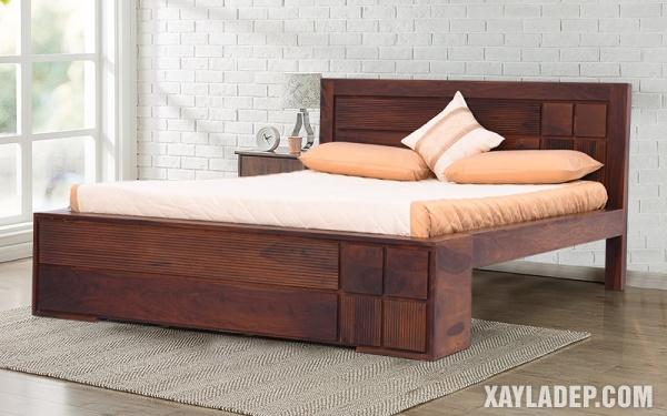Mẫu giường gỗ đẹp 2020. Ảnh 9