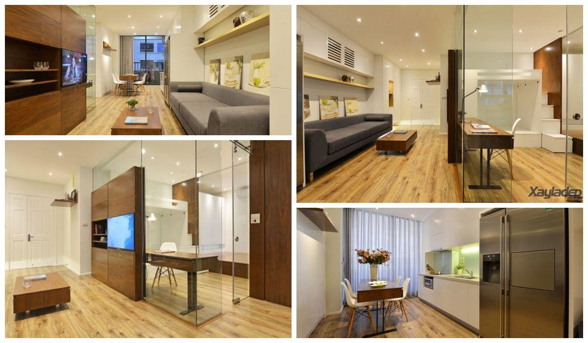 Một số hình ảnh về nội thất căn hộ chung cư 70m2 cho gia đình 6 người