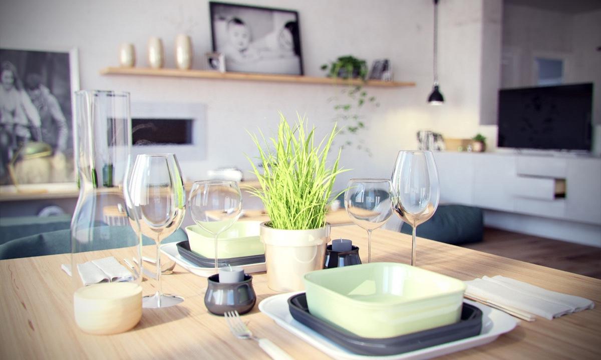 Ý tưởng nội thất căn hộ chung cư 100m2 cho vợ chồng trẻ. Phòng bếp 3