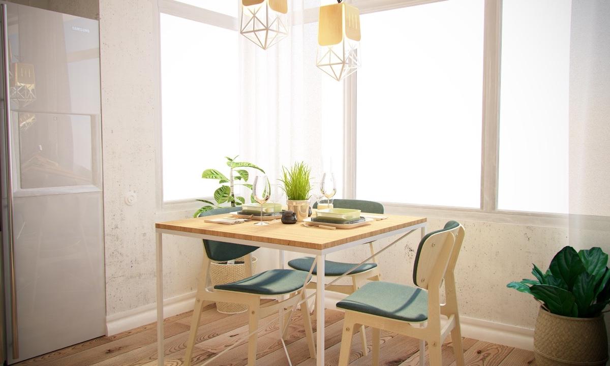 Ý tưởng nội thất căn hộ chung cư 100m2 cho vợ chồng trẻ. Phòng bếp 4