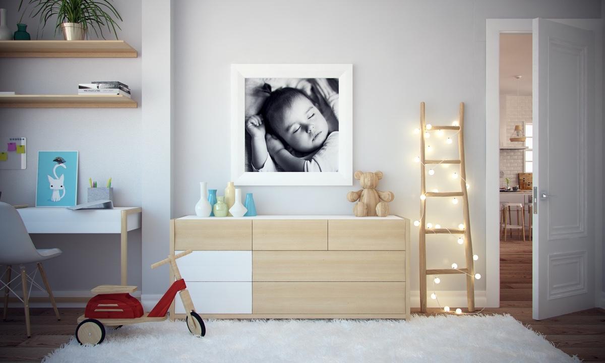 Ý tưởng nội thất căn hộ chung cư 100m2 cho vợ chồng trẻ. Phòng ngủ trẻ em