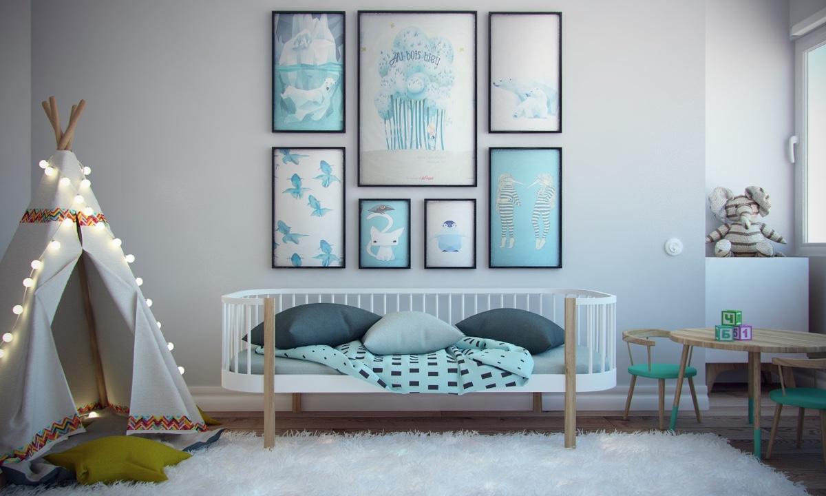 Ý tưởng nội thất căn hộ chung cư 100m2 cho vợ chồng trẻ. Phòng ngủ trẻ em 3