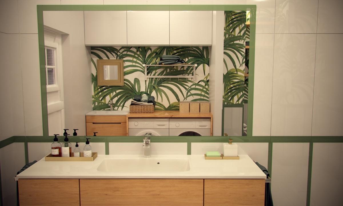 Ý tưởng nội thất căn hộ chung cư 100m2 cho vợ chồng trẻ. Phòng ngủ tắm