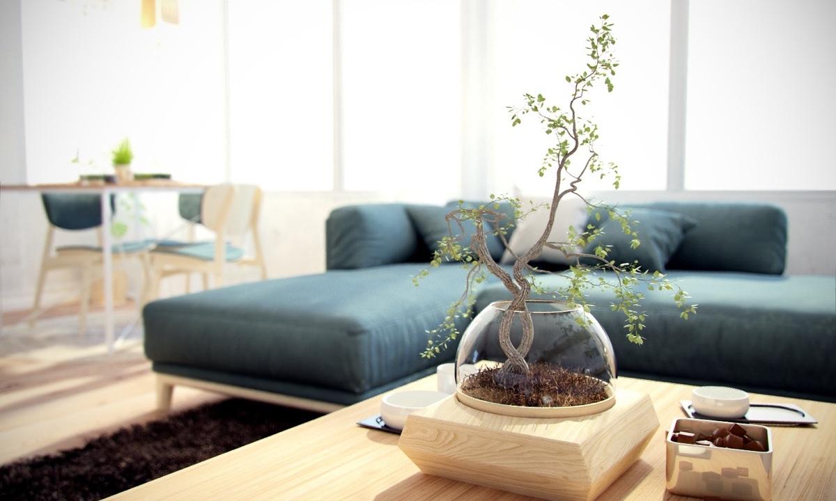Ý tưởng nội thất căn hộ chung cư 100m2 cho vợ chồng trẻ. Phòng khách 3