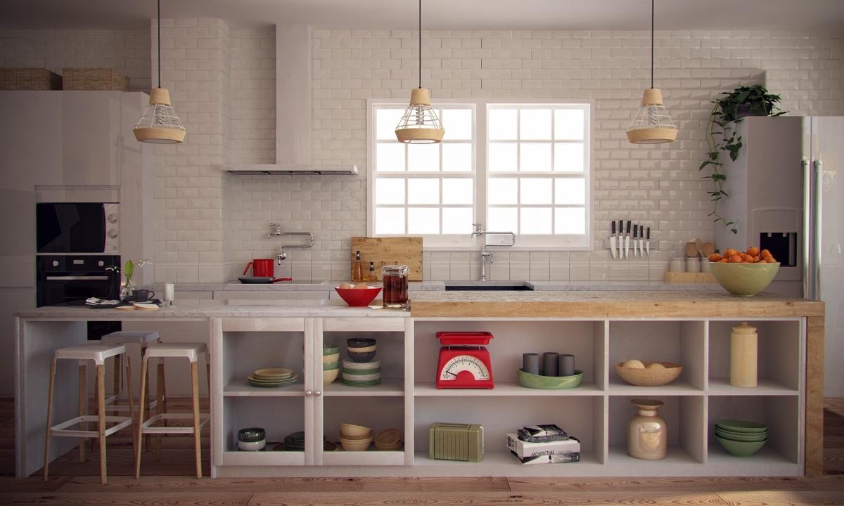 Ý tưởng nội thất căn hộ chung cư 100m2 cho vợ chồng trẻ. Phòng bếp 2