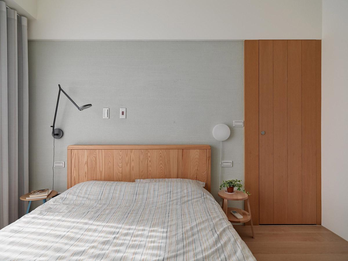 Mẫu thiết kế nội thất chung cư 100m2 2 phòng ngủ phong cách Nhật Bản. Giường ngủ