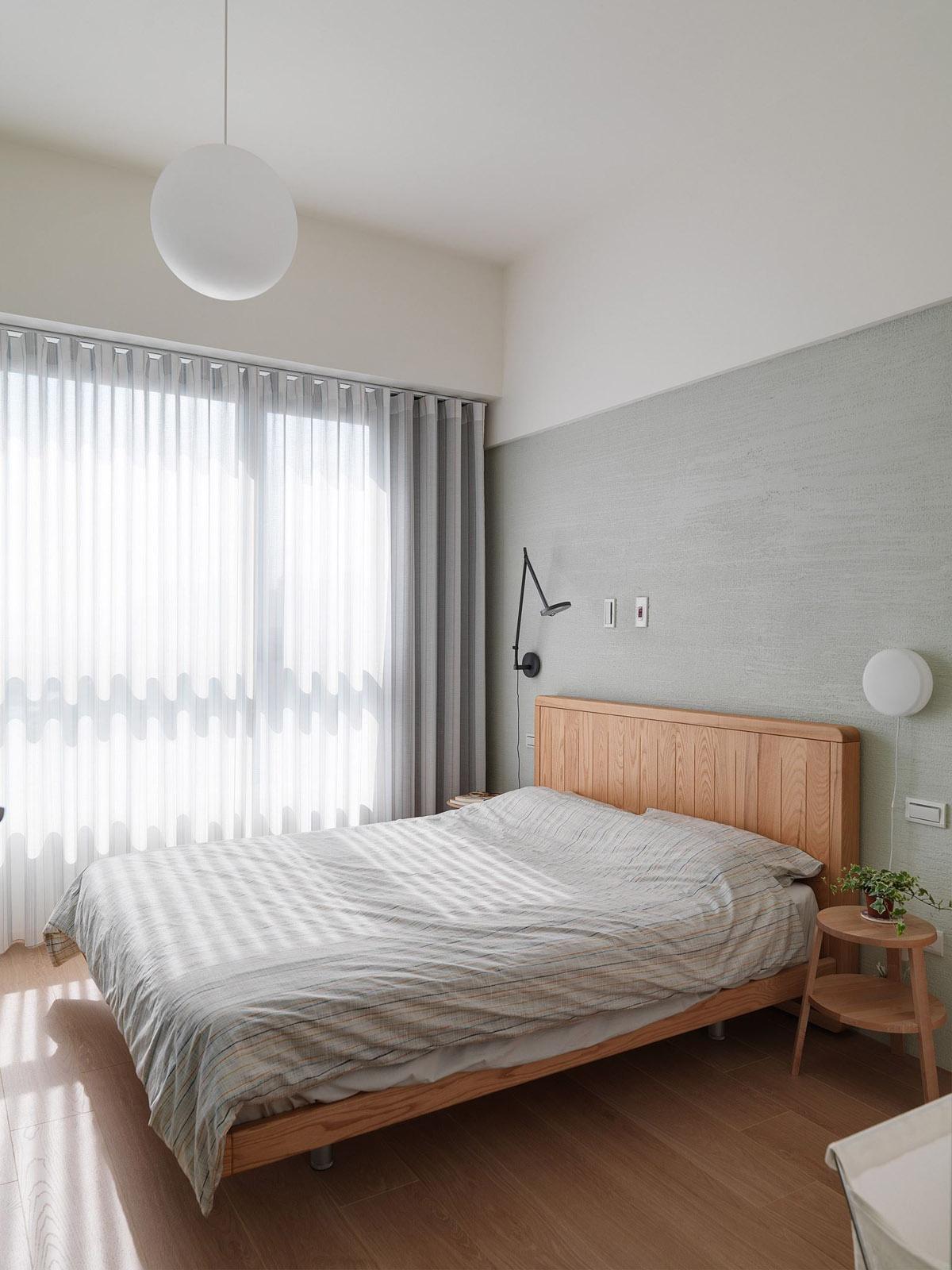 Mẫu thiết kế nội thất chung cư 100m2 2 phòng ngủ phong cách Nhật Bản. Phòng ngủ 3