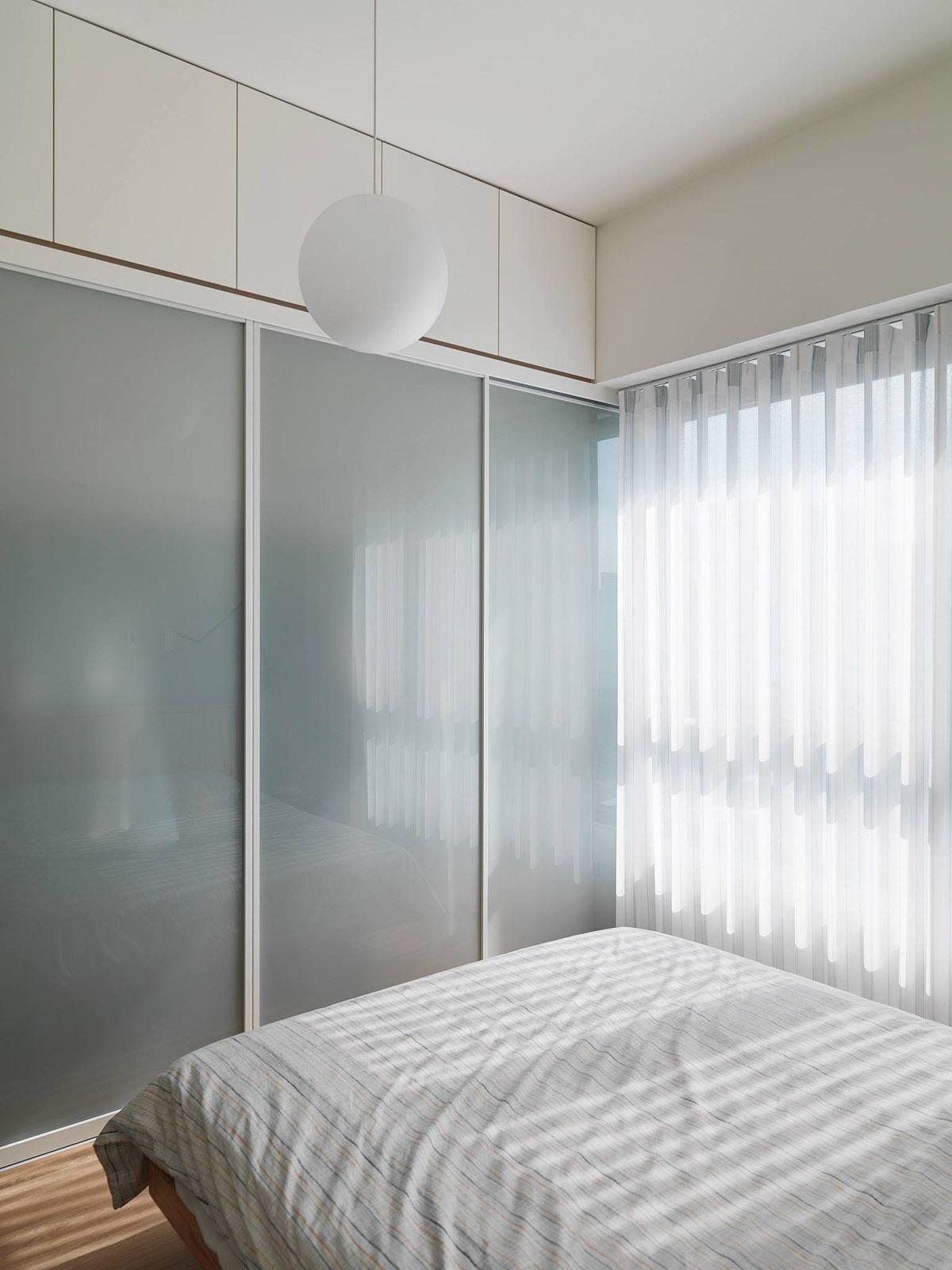 Mẫu thiết kế nội thất chung cư 100m2 2 phòng ngủ phong cách Nhật Bản. Phòng ngủ 6