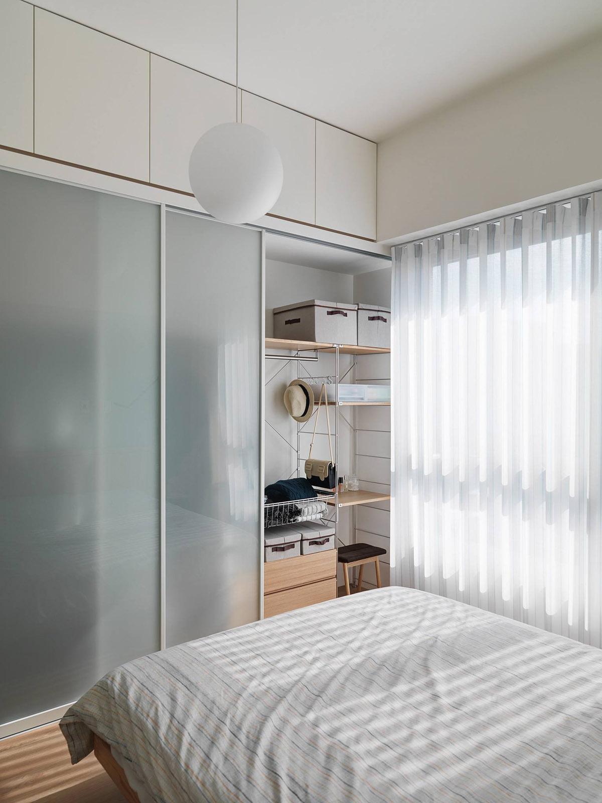 Mẫu thiết kế nội thất chung cư 100m2 2 phòng ngủ phong cách Nhật Bản. Phòng ngủ 7