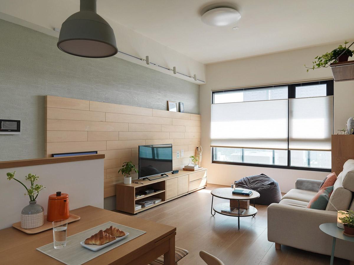 Mẫu thiết kế nội thất chung cư 100m2 2 phòng ngủ phong cách Nhật Bản. Ảnh 2