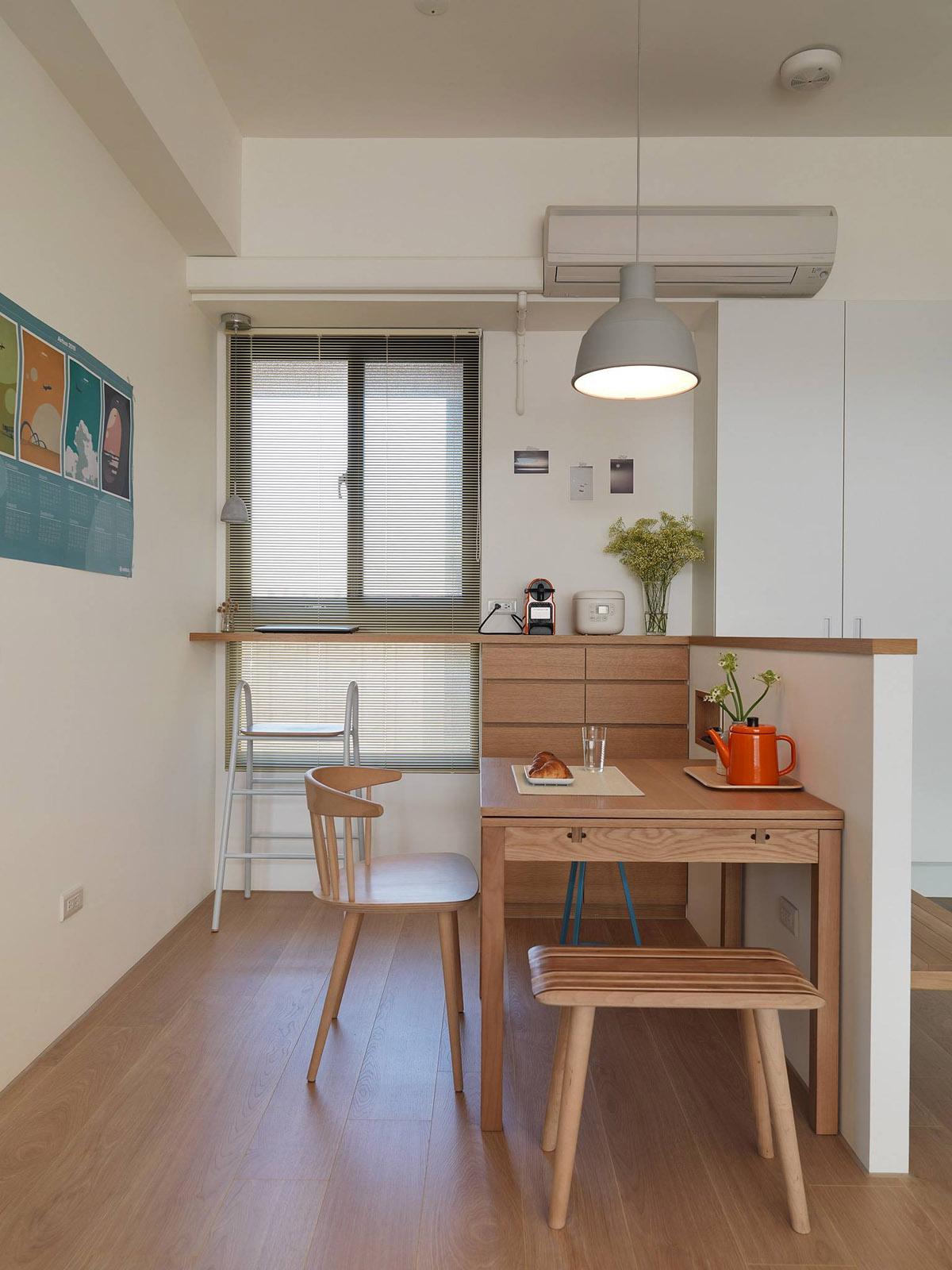 Mẫu thiết kế nội thất chung cư 100m2 2 phòng ngủ phong cách Nhật Bản. Ảnh 6