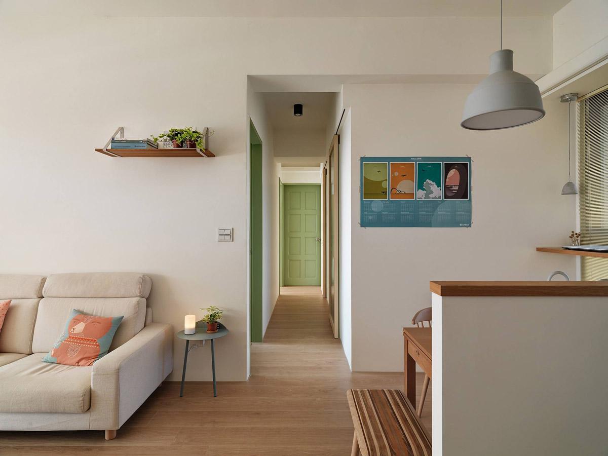 Mẫu thiết kế nội thất chung cư 100m2 2 phòng ngủ phong cách Nhật Bản. Ảnh 7