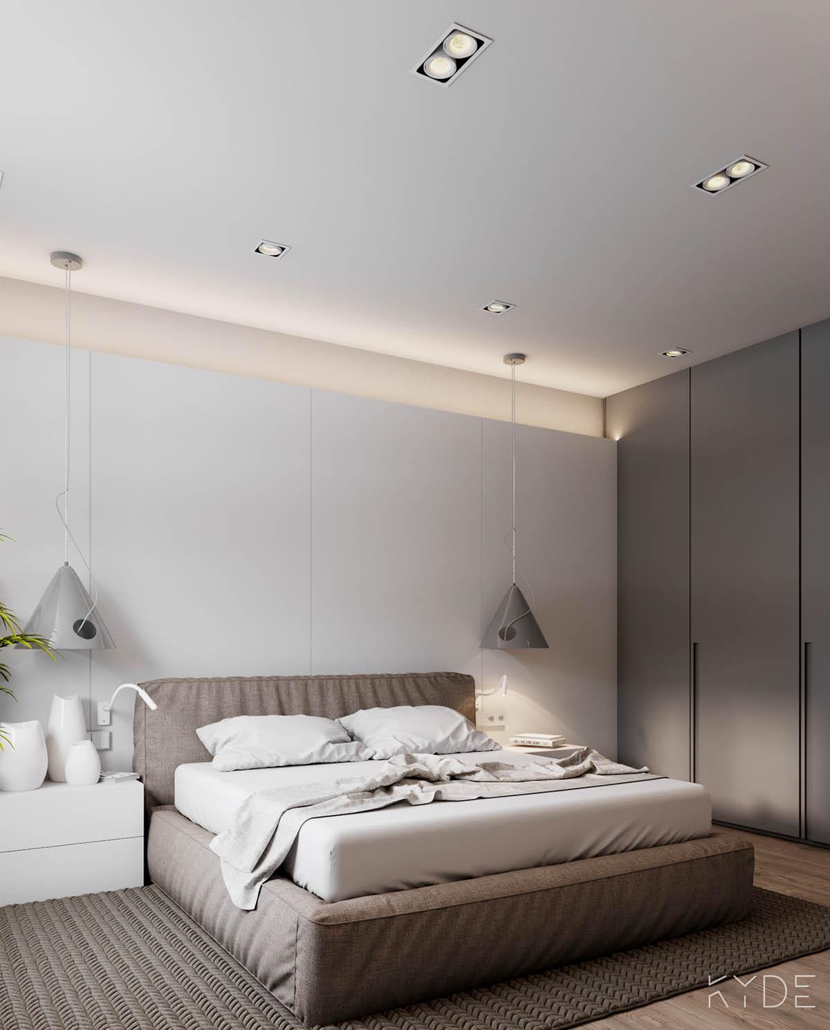 Bên trong căn hộ chung cư 70m2 theo phong cách Bắc Âu. Phòng ngủ 2