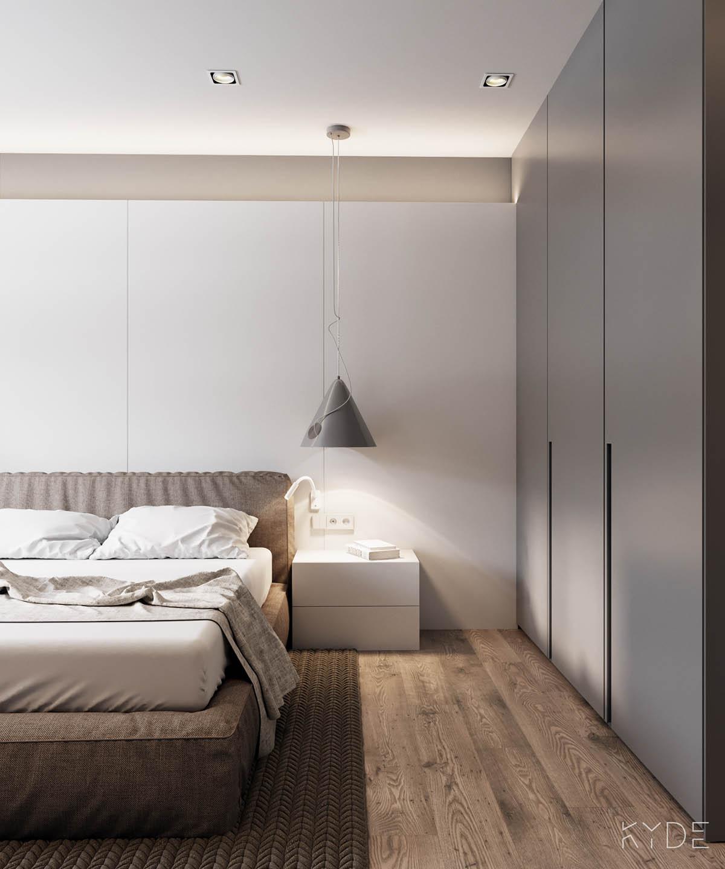 Bên trong căn hộ chung cư 70m2 theo phong cách Bắc Âu. Phòng ngủ 3