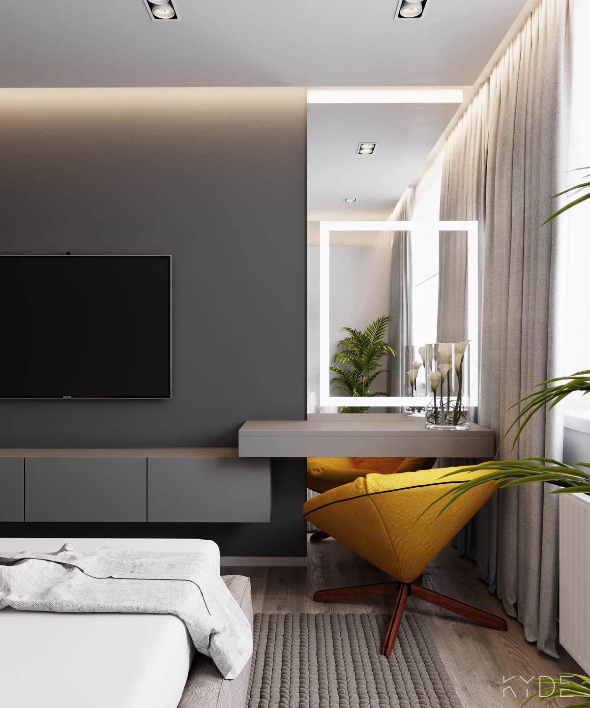 Bên trong căn hộ chung cư 70m2 theo phong cách Bắc Âu. Phòng ngủ 4