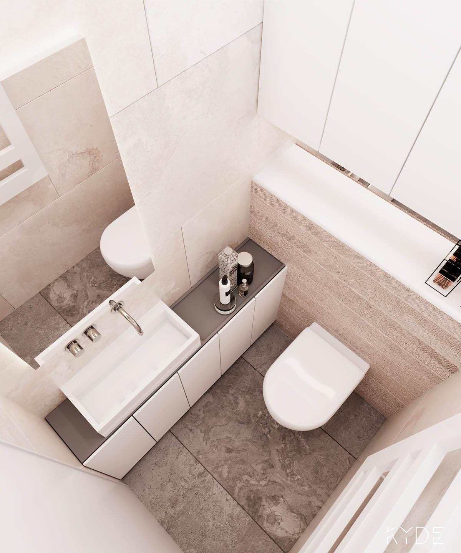 Bên trong căn hộ chung cư 70m2 theo phong cách Bắc Âu. Phòng tắm 3