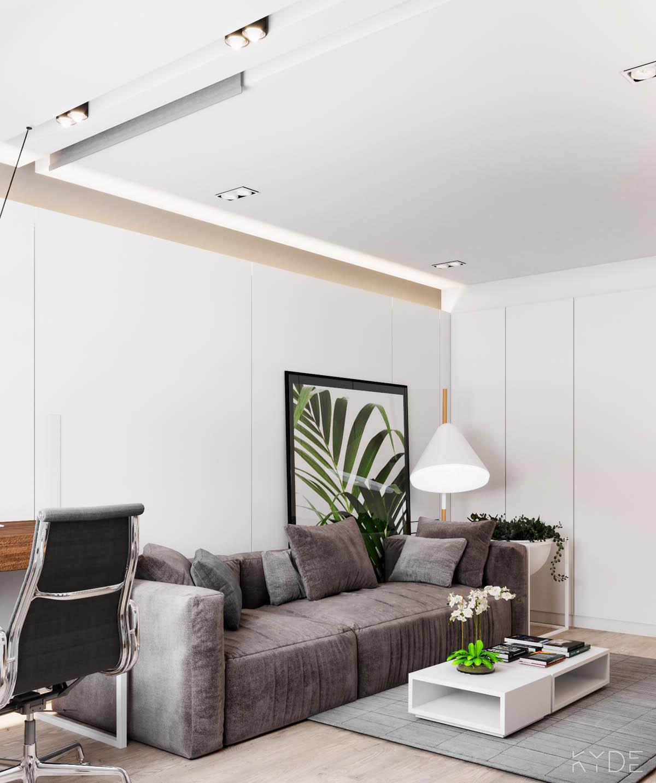 Bên trong căn hộ chung cư 70m2 theo phong cách Bắc Âu. Phòng khách 2